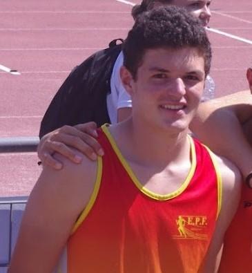 Maxime lors des championnats de France à Angers.